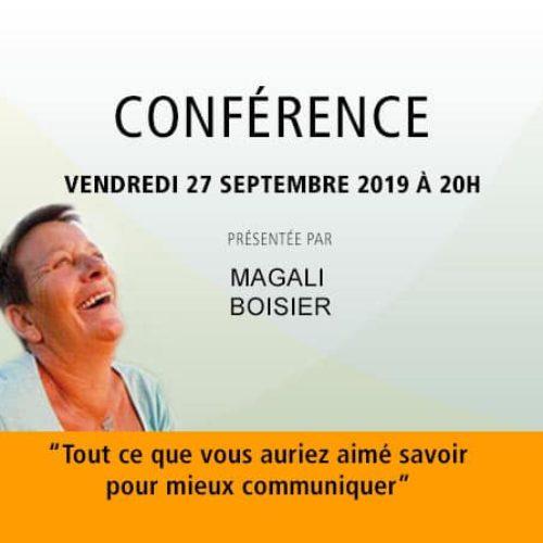 Conférence Magali Boisier