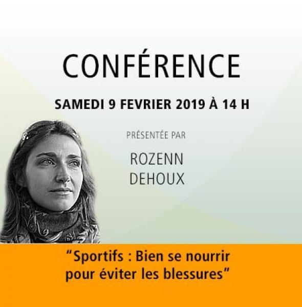 Rozenn Dehoux : Sportifs : Bien se nourrir pour éviter les blessures