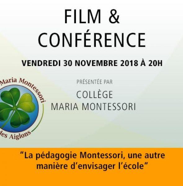 COLLÈGE MARIA MONTESSORI : Film et conférence