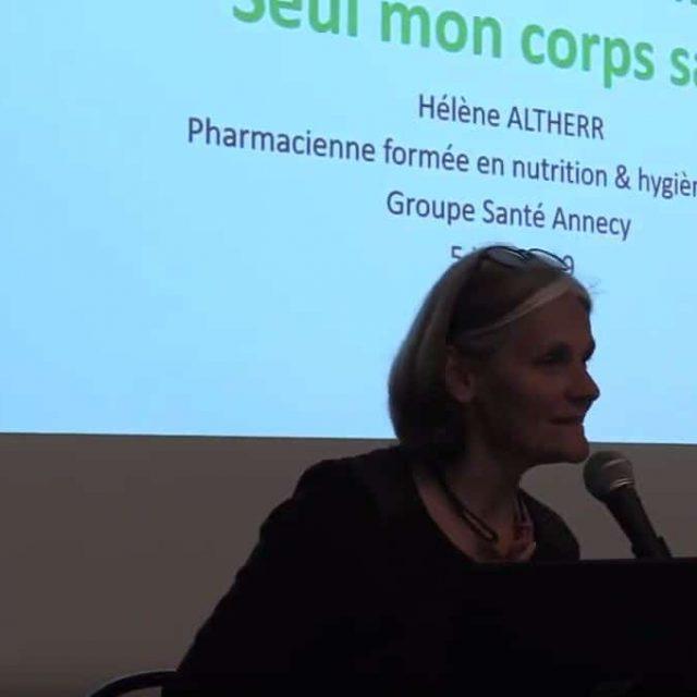 HÉLÈNE ALTHERR : Conférence du 6 juin 2019 avec le Groupe Santé Annecy