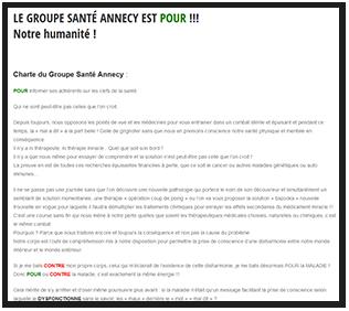 Charte Groupe Santé Annecy